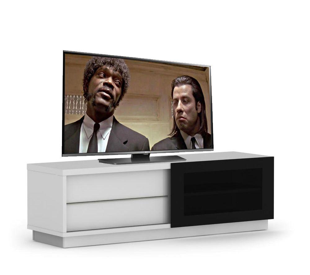 Elmob Harmony Slide TV meubel HG Wit